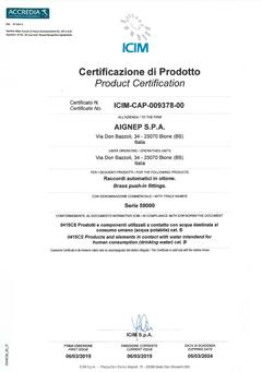 Product Certification Drinking Water (DM174)