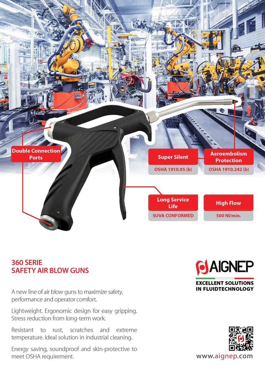 360 SERIE - SAFETY AIR BLOW GUNS