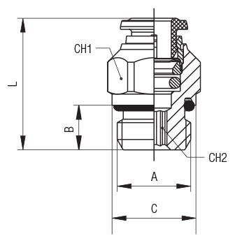 STRAIGHT MALE ADAPTOR (PARALLEL)